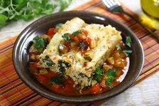 Cannelloni ze szpinakiem i serem feta na warzywnym ragout