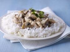 Kremowy stroganoff z ryżem