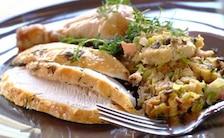 Kurczak faszerowany pieczarkami i boczkiem