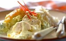 Kurczak z brokułami w bogatym sosie