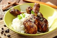 Kurczak marynowany w kawie na jaśminowym ryżu