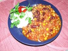 Mielone z  sosem meksykańskim