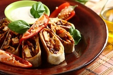 Pikantne burrito z kurczakiem