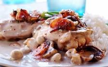 Potrawka z kurczaka z pieczarkami