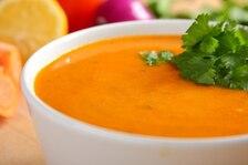 Zupa z pieczonego bakłażana