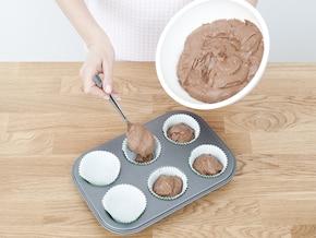 Muffinki z wiśniami – krok 3