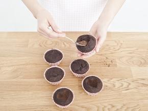 Muffinki z wiśniami – krok 5