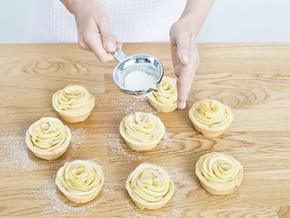 Cupcakes jabłkowe różyczki – krok 5