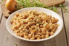Groch włoski i pilaw z ryżu