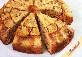 Ananasowe ciasto z czekoladą