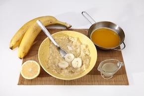 Wegańska babka bananowa z bakaliami – krok 2