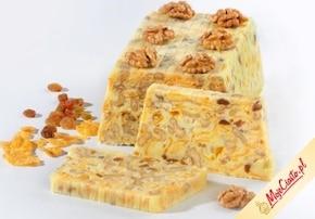 Biały blok czekoladowy z orzechami - VIDEO