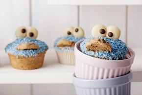 Muffinki Cookie monster - Ciasteczkowe Potwory