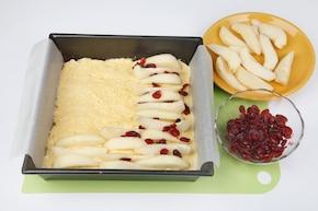 Błyskawiczne ciasto gruszkowe – krok 4
