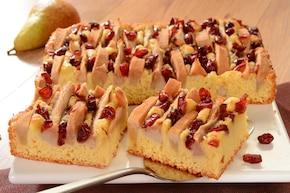 Błyskawiczne ciasto gruszkowe