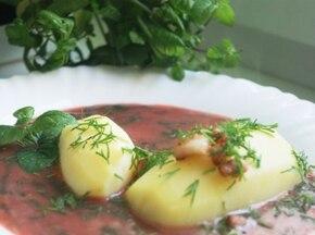Botwinka z ziemniakami