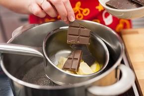 Brownie z tiramisu – krok 1