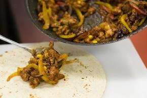 Burrito z mięsem mielonym – krok 6