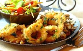 Chrupiące kalmary z ryżem