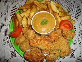 Chrupiący kurczak z pysznym sosem