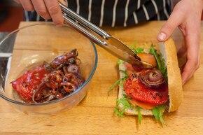 Ciabatta z grillowanymi warzywami  – krok 2