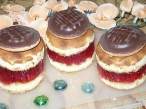 Ciasteczka biszkoptowe z galaretką