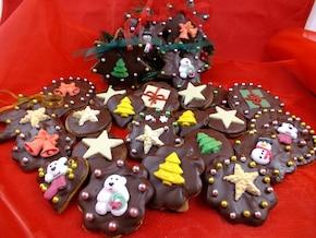 Ciasteczka korzenne z czekoladą