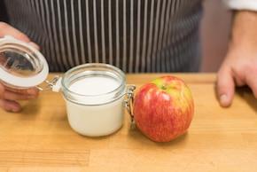 Ciasteczka owsiane z żurawina i słonecznikiem, kefir, jabłko – krok 4