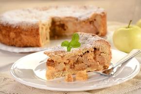 Ciasto jabłkowo-marcepanowe