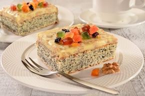 Ciasto makowe z mleczną polewą