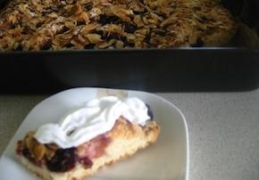Ciasto wiśniowo - migdałowe