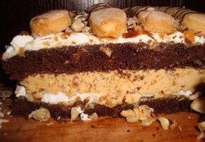 Ciasto z Orzechami i Kajmakiem