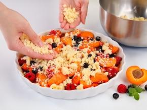 Crumble z owocami – krok 6