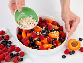 Crumble z owocami – krok 4