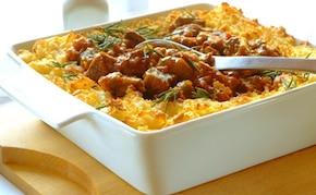 Curry z wołowiny z ziemniaczanym puree