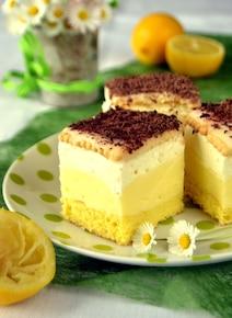 Kremowe ciasto cytrynowe
