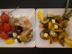 Cytrynowy kurczak w nucie śródziemnomorskej