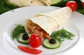 Czapka krasnala - Gyros w tortilli