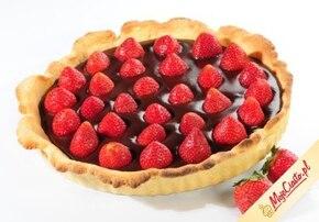 Ciasto czekoladowo-truskawkowe