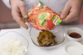 Czerwony ryż z kurczakiem – krok 3