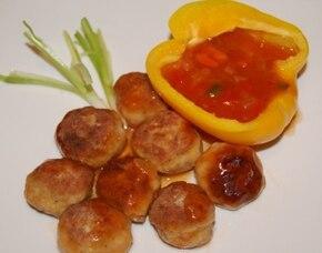 Drobiowe kuleczki w sosie słodko-kwaśnym