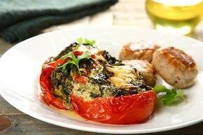 Pomidory nadziewane szpinakiem