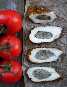 Filety z farszem grzybowym