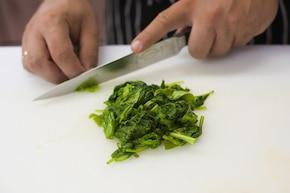 Frittata ze szpinakiem – krok 1