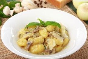 Gnocchi w sosie z bazylii