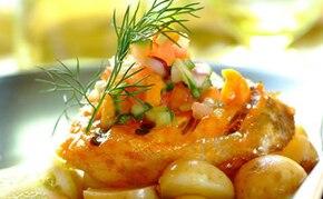 Grillowana ryba z orzeźwiającą salsą