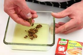 Grillowane bakłażany z octem, serem feta i miętą  – krok 2