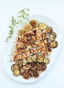 grillowane szaszłyki z warzywami