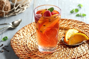 Herbata z sokiem malinowym