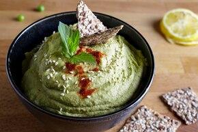 Hummus z zielonym groszkiem